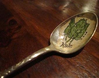 Vintage Spoon Kale Plant Marker