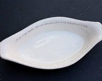 Oval Shaped Baking Dish