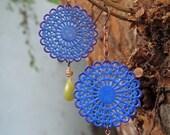 kashmir gypsy filagree dangle earrings