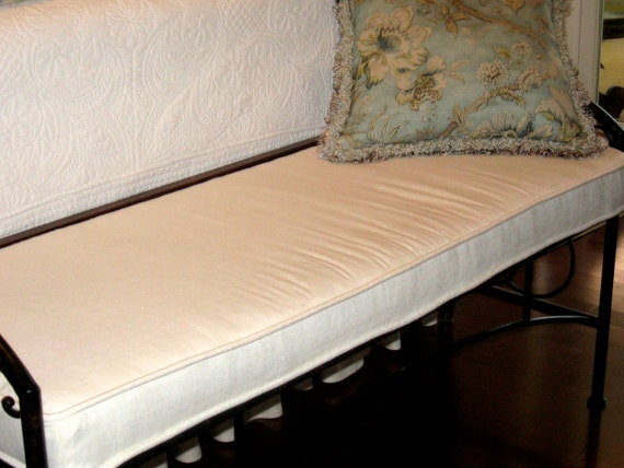 Window or Bench Seat Cushion and Cover - Custom made in your choice of fabric