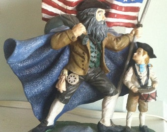 Vintage Novelino Independence War Santa circa July 4th 1776 Numbered Limited Edition Classic American