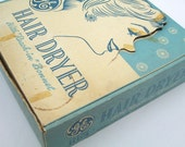 1950's Vintage GE Hair Dryer with reach-in Bonnet- Collectible- Still in Box