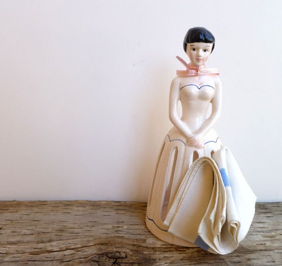 Doll Napkin Holder- Ceramic Porcelain