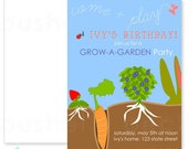 Grow A Garden Party Invites