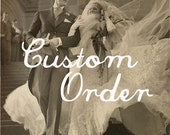 Custom Order for etude: Kristen Bridal Hairpiece/ Broach