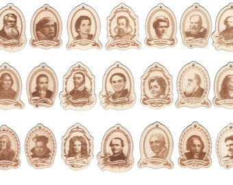 Heroes Of Science: Non-Denominational Festive Ornaments (Full set of 21)
