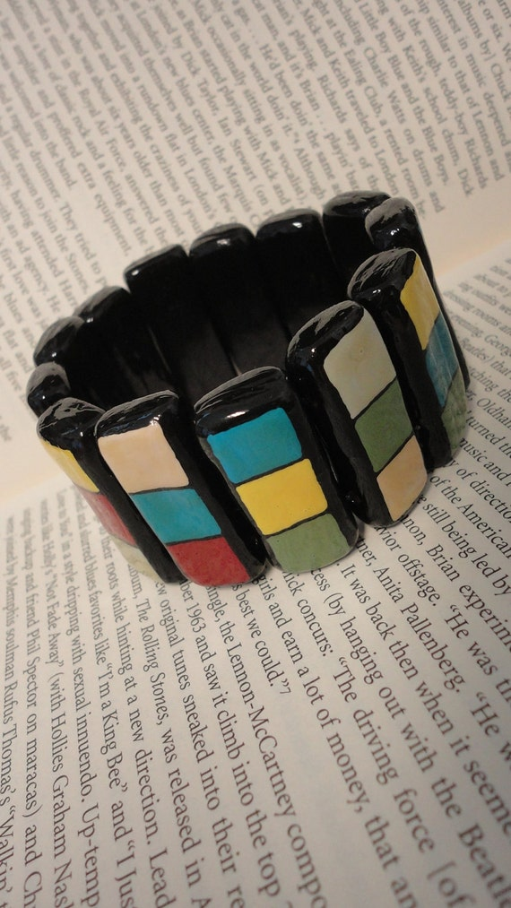 Handmade Retro inspired multicolored bracelet