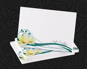 4 x 3 Personalized Plumeria Post-it Notes - Great Gift - BEST SELLER