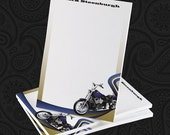 4 x 6 Personalized Motorcycle Post-it Notes - Great Gift