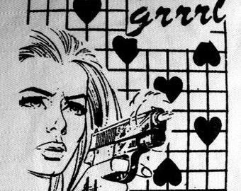 Riot Grrrl Feminist Heart Punk DIY Patch Screen Printed