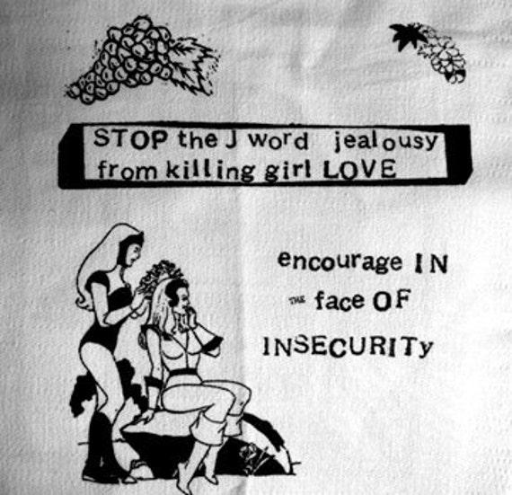 Girl Love Feminist Bikini Kill Riot Grrrl Punk DIY Patch Screen Printed