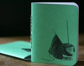 Yarn Bowl Knitting Notebook - Green