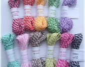Colorful Bunch Sampler Pack by The Twinery - all 11 colors (15 yards of each color) - 165 yards total