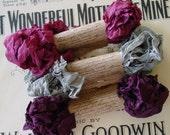 Shabby Wrinkled Victoria seam binding ribbon bundle, 15 yards