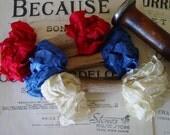 Shabby Wrinkled Old Glory ribbon bundle, 15 yards