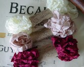 Shabby Wrinkled Rosemary ribbon bundle, 15 yards