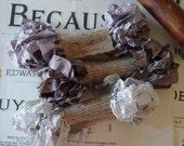 Shabby Wrinkled MochaDoodle ribbon bundle, 15 yards