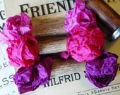 Shabby Wrinkled Lipstick Kisses ribbon bundle, 15 yards