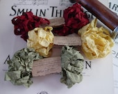 Shabby Wrinkled Harvest Bounty ribbon bundle, 15 yards