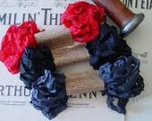 Shabby Wrinkled ribbon bundle called Count Dracula, 15 yards