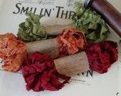 Shabby Wrinkled Autumn Reflections ribbon bundle, 15 yards