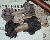 Shabby Wrinkled Tree Bark ribbon bundle, 15 yards