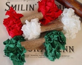 Shabby Wrinkled Christmas Time ribbon bundle, 15 yards