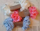 Shabby Wrinkled French Boudoir ribbon bundle, 15 yards