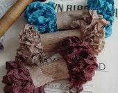 Shabby Wrinkled RIDGE CREEK ribbon bundle, 15 yards