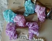 Shabby Wrinkled COTTON CANDY ribbon bundle, 15 yards
