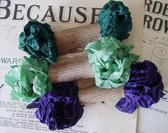 Shabby Wrinkled Sea Urchin ribbon bundle, 15 yards