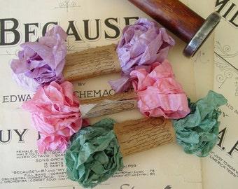 Shabby Wrinkled Romantic Notions ribbon bundle, 15 yards