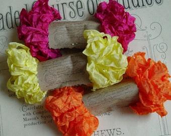 NEW - Shabby Wrinkled Sunkissed ribbon bundle, 15 yards