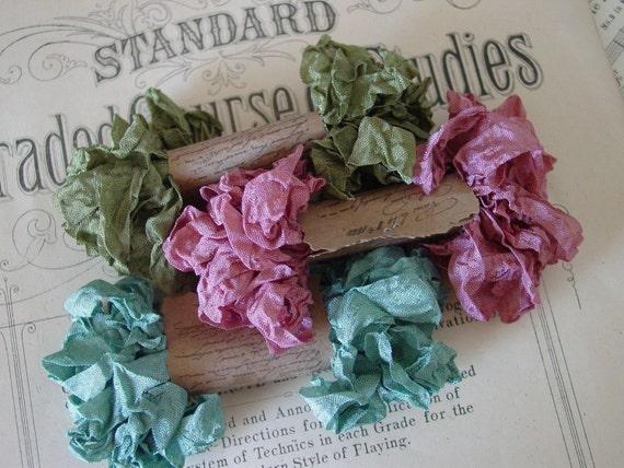 Shabby Wrinkled Marie's Closet ribbon, 15 yards