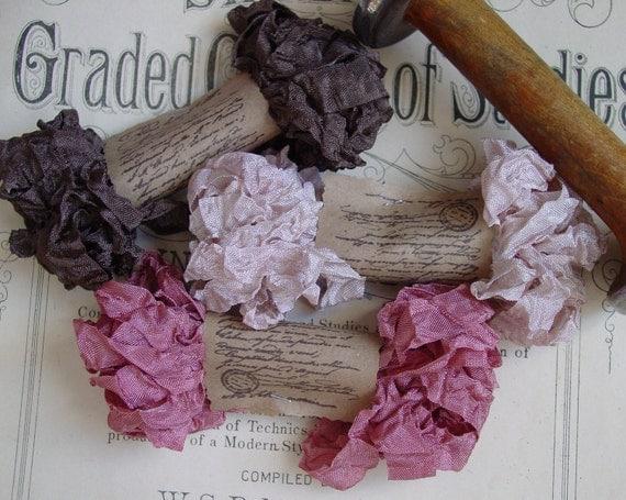 Shabby Wrinkled Endearing ribbon bundle, 15 yards