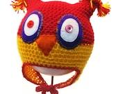 Owl Crochet Hat size 1