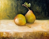 TWO PEARS- FINE ART PRINT 10x8 inches