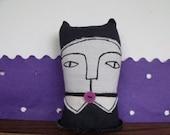 Violet- the school cat- art soft doll