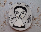 The Days- drawing portrait on ceramic tile