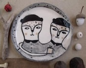 A little gift for you- ceramic hand painted art plate
