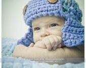 Baby Boy Hat Photo prop Newborn Aviator Hat Knit Crochet Infant hat Newborn Boy hat Newbor accessories Blue boy hat Aviator Marine