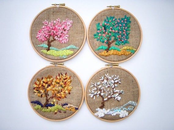 Hoop art tapestry embroidery hoop fiber art for Home decoration things