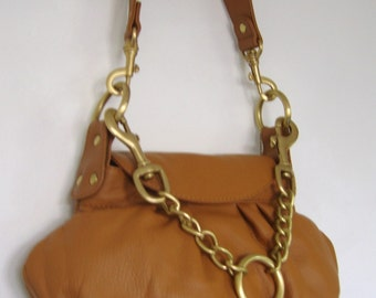 30% off Soft Leather Handbag With Two Straps