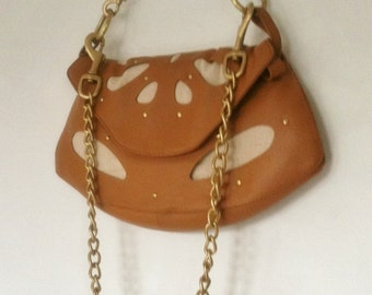 Leather And Canvas Handbag handmade for you.