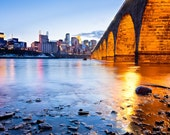 Stone Arch and Minneapolis Print - 24x36