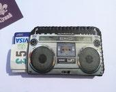 Retro Boom Box Credit Card Holder Business Card Holder Wallet