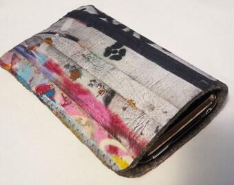 iPhone 7 Case, iPhone 6/6S Case, iPhone 5/5S/5C Case - Pink Graffiti Street Art Blossom - Soft Felt iPhone Case