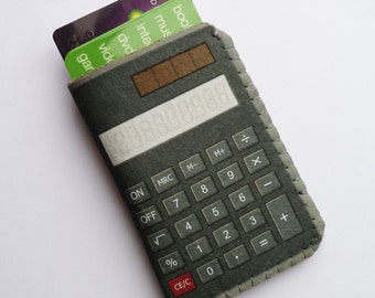Credit Card Case Calculator - Fits Business Card, Gift Cards and Cash