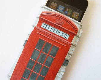 iPhone 4/4S iPhone 5 Pouch Case Sleeve  British Red Phone Box - Free International Shipping