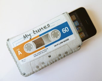 iPhone 4 Case Grey Cassette Tape iPhone 4S Case - Fits iPhone 5 Cell Phones and Smartphones